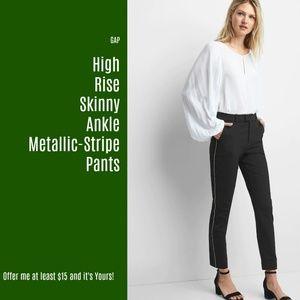 New Gap High Rise Skinny Ankle Metal Stripe (J17)
